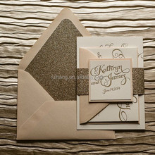 glitter paper wedding invitation light up your wedding