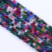 Natural Brilliant Cut Colorful Jade Gemstone DIY Jewelry Round Beads