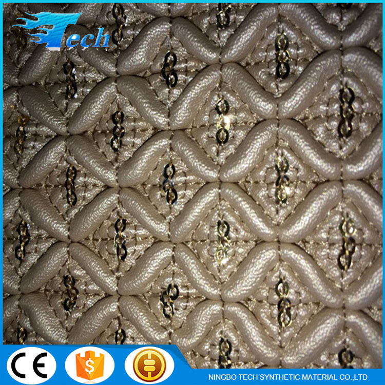 1.6-2.0MM quilting beautiful synthetic leather for bags