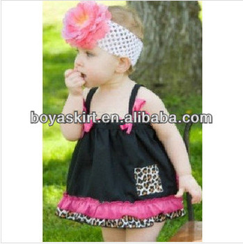 2014 Hot sale baby leopard print swing sets girls cotton outfit kids  clothing Girls dress suit 190628841