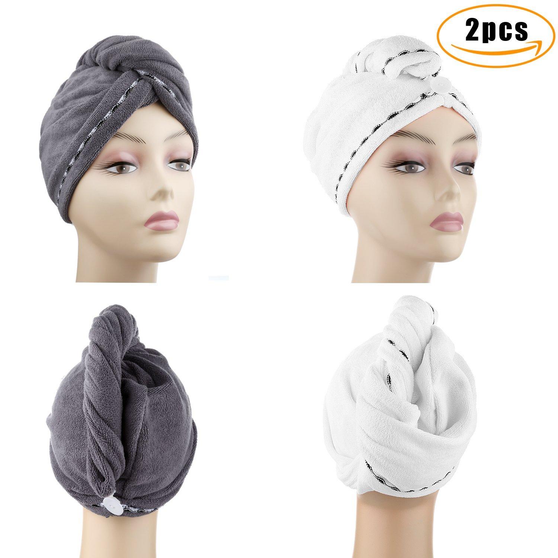 Super Absorbent Turban 100% Cotton Biodegradable Hair Towel Cap