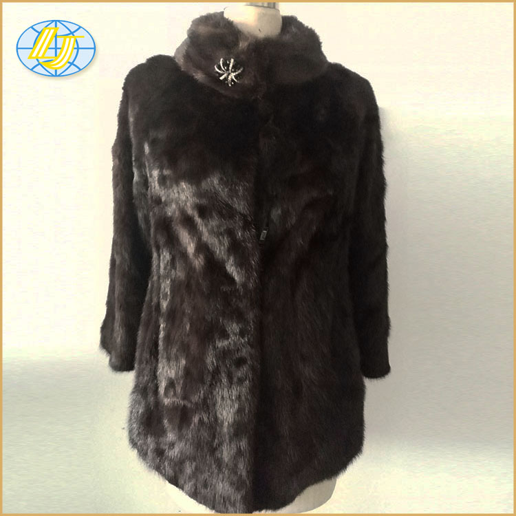 Wholesale real mink fur women's winter coats women genuine mink fur coat