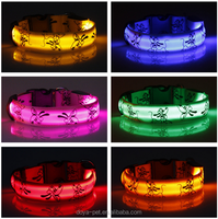 New Design Adjustable Led Pet Dog Collar with colorful light