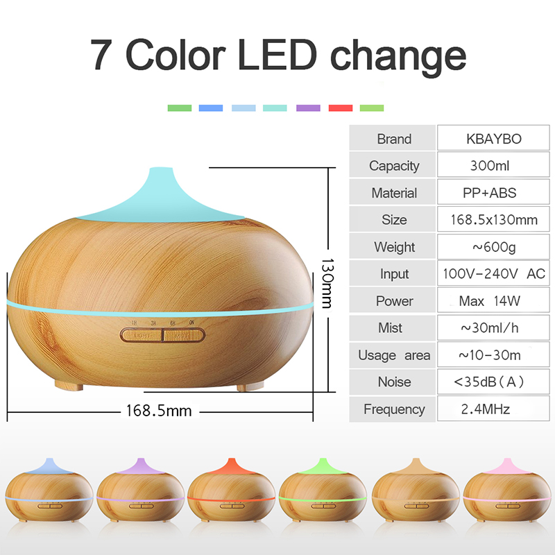 Wood Grain Ultrasonic Essential Oil Electric Aromatherapy Diffuser Wholesale