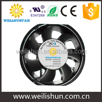 PBT Plastic high speed led ring case fans