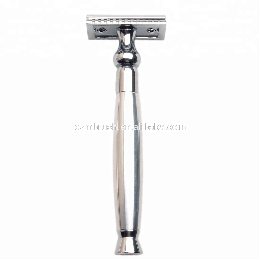 Vecchio stile Rasoio di Sicurezza lame Double Edge Reloadable Style Chrome Rasoio Da Barba