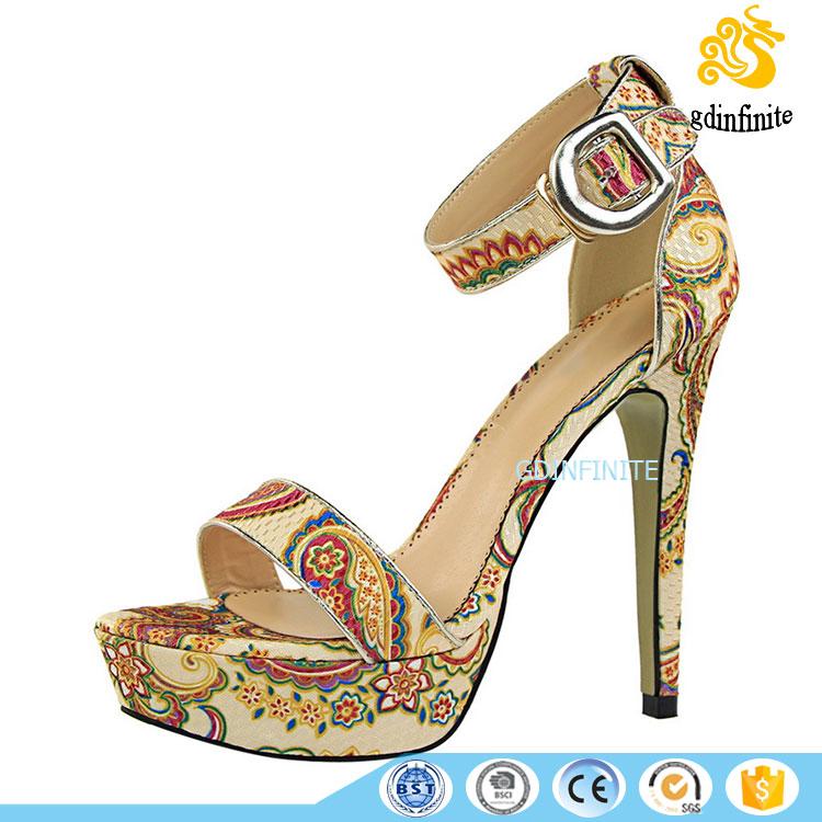 fd98b64f666caa Sexy Metal Buckle Platform Ankle Strap High Heels Shoes Womens Summer  Sandals