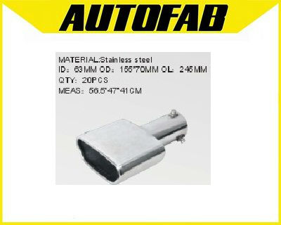 AUTOFAB-car auto stainless steel performance universal muffler tail pipeAF-MF16