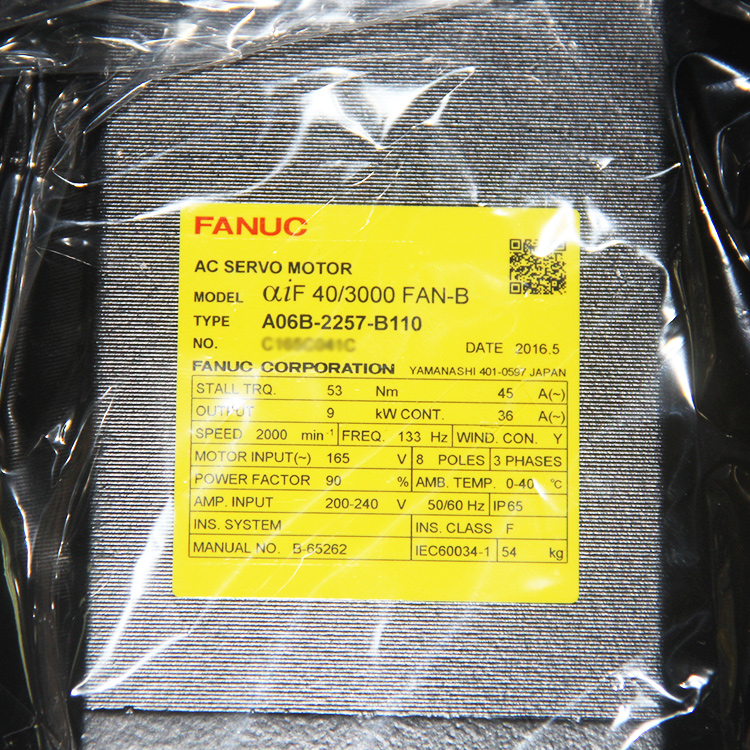 Back To Search Resultselectronic Components & Supplies Cooperative Used 100% Tested Fanuc Ac Servo Motor A06b-0243-b100