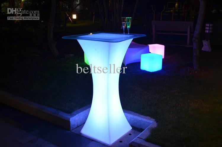 Xc-018 European Led Light Bar Table Rechargeable Led Illuminated Table Waterproof Lighted Up Coffee Table Bar Ktv Party Supply Moderate Cost Bar Tables Furniture