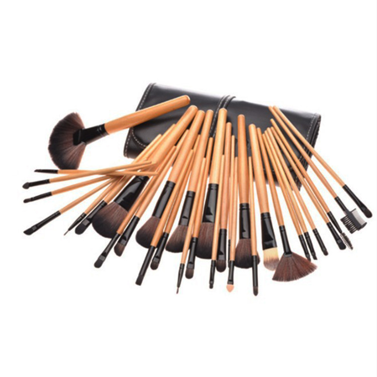 Hot sale 32 pcs wooden handle cheap big makeup <strong>brushes</strong>