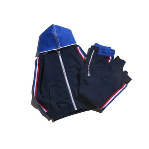 Wholesale high quality hoodie pullover and pants cute boys fleece suit