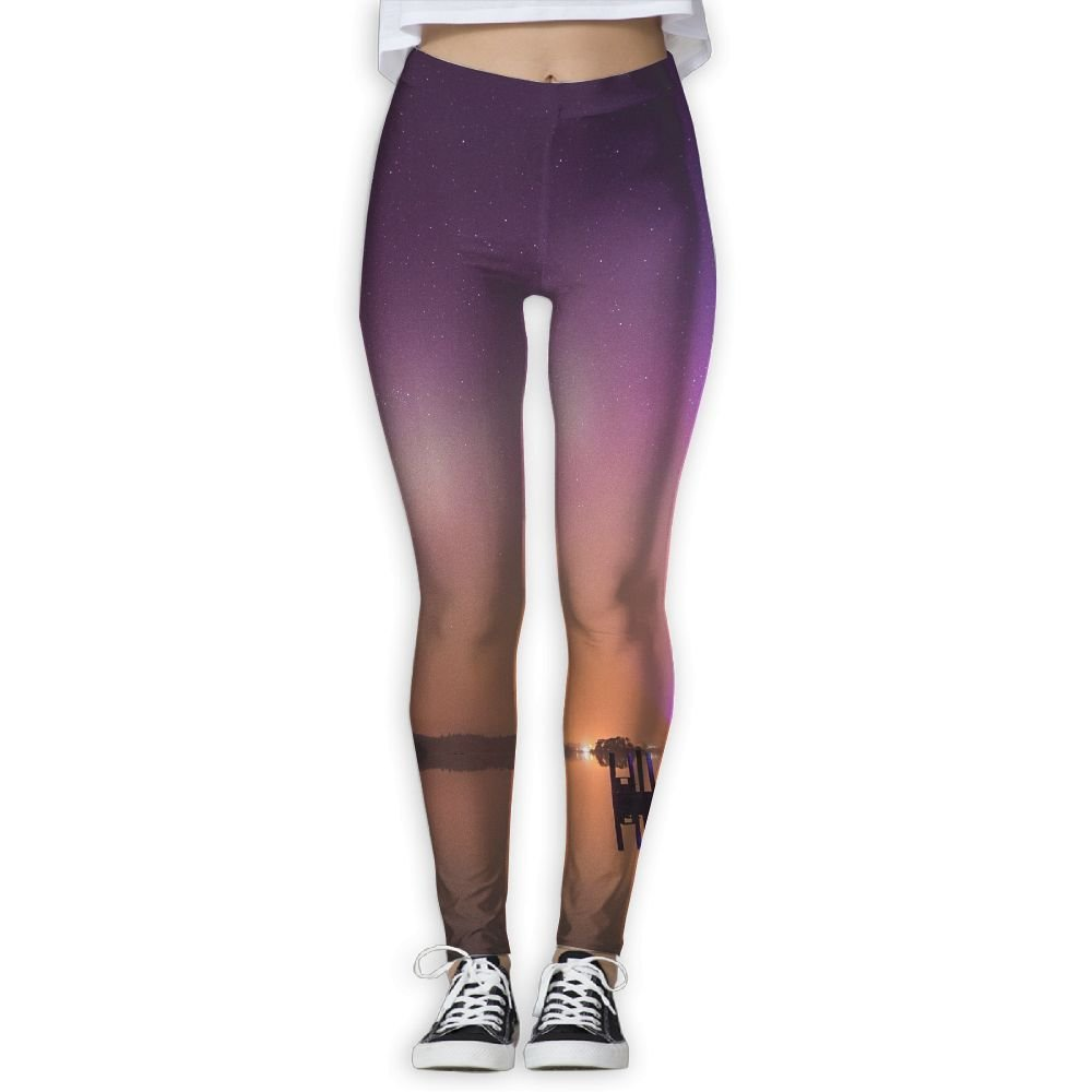 d97976c77357d Get Quotations · Northern Lights Yoga Pants Digital Printed Womenâ€s  Full-Length Yoga Workout Leggings