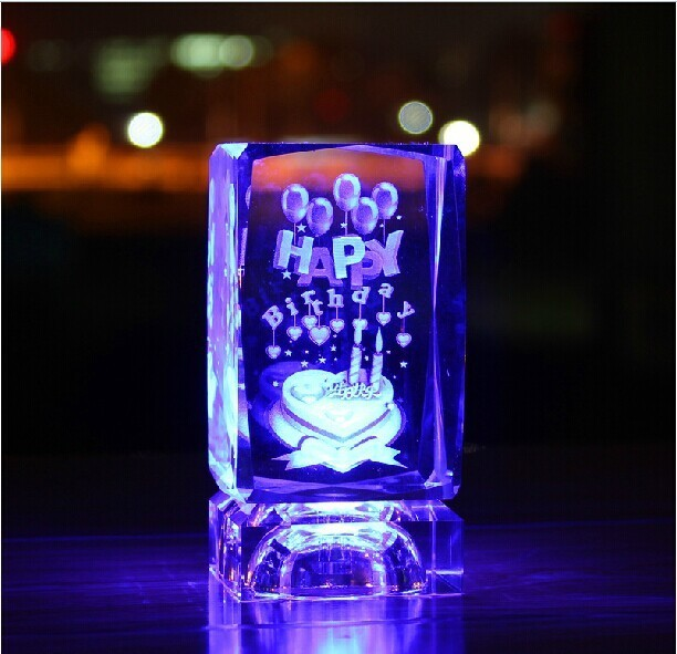 Crystal Cube Birthday Gift For Lover Corporate Item