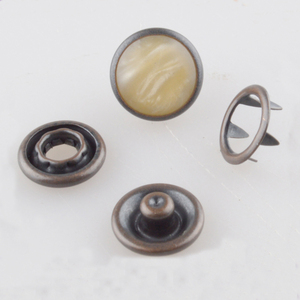 Pearl ring prong snap fasteners for baby sweaters