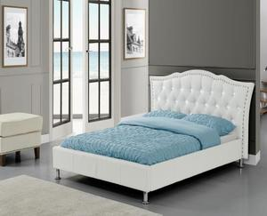 American Style Upholstered Leather Bed