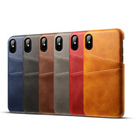 For iPhone X Real Leather Case Genuine leather Back Cover