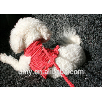 Dog Harness Dress Clothing For Small Dogs_350x350 dog harness dress clothing for small dogs cotton crochet harness pet