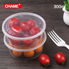2016 china high quality cheap disposable plastic fast food box round shape no compartment