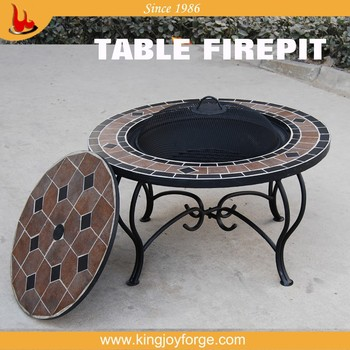garden patio table top fire pit/round fire pit table - buy table top