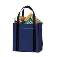 high quality reusable folding non-woven material sublimated shopping bag