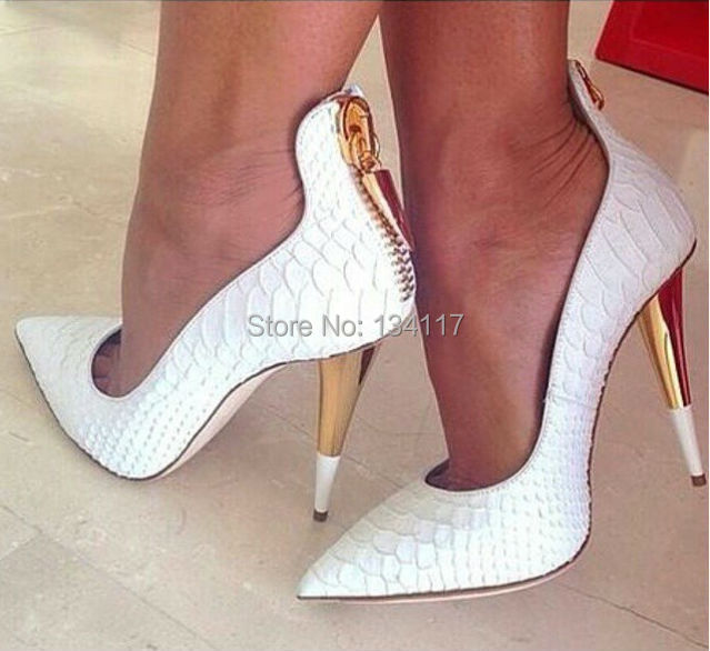 White Womens Shoes Heels Tsaa Heel