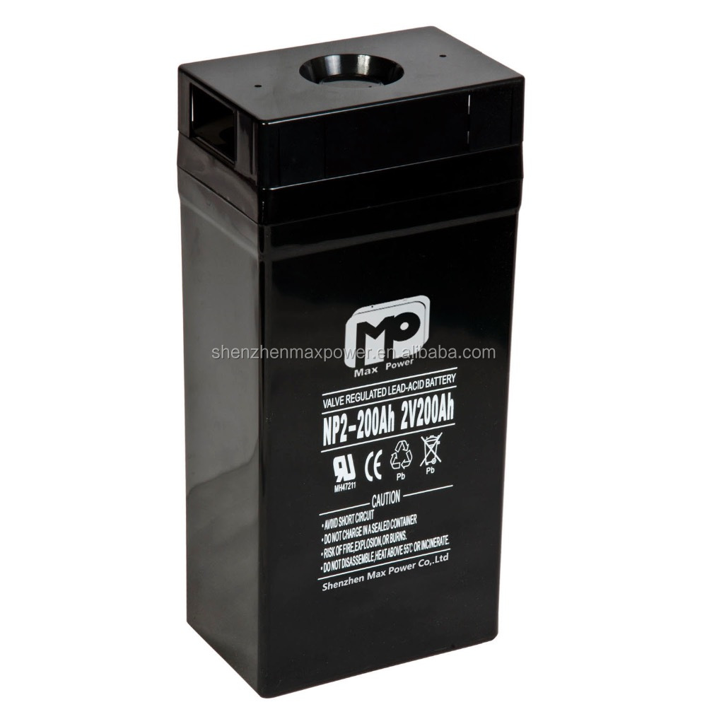 2V 200ah Valve Regulated Maintenance Free deep cycle Battery