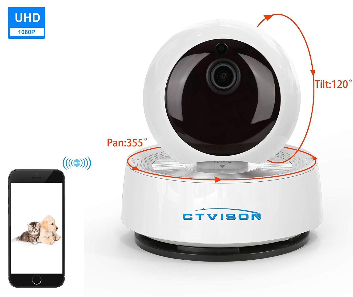 2019 Newest 1080P 4x Zoom face detection and auto tracking two way audio WIFI wireless ip camera