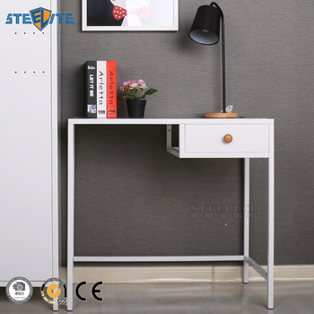 Home Office Dorm Metal Computer Desk Shelf