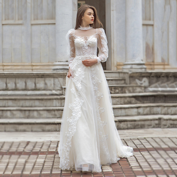 4c94c60251a3 Alibaba vestido de noiva wedding dresses online first class bridal gown  long sleeve bohemian wedding dress
