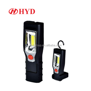 HYD80026 high brightness 3W COB flood light cordless led inspection lamp rechargeable work light with stand hook magnet