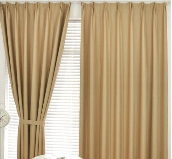 simple plain blackout fabric curtain for hotel fire resist 100% polyester
