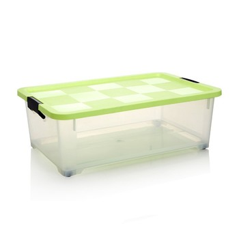 Under Bed Plastic Clear Storage Box Container With Lid
