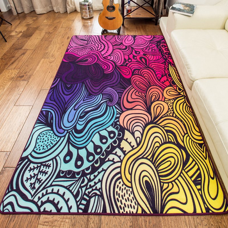 160 230cm Large Size High Quality Colorful Rugs And Carpets Area Rug For Living Room