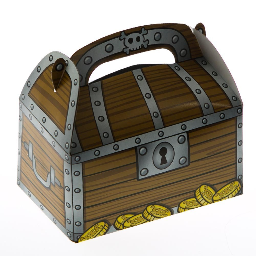 Celebrations Occasions Party Supplies 12pk Pirate Treasure Chest