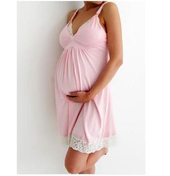 dea3af33af530 Sweet Pink Super Soft Pregnant Maternity Cotton Nightgown - Buy ...