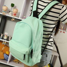 Simple Korean style pure candy color women backpack college student school book bag leisure backpack