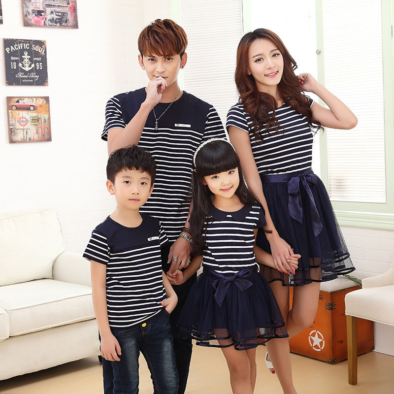 Matching mother and daughter clothes father son mom and daughter dress mommy and me family clothes