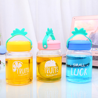2018 New 100% Food Grade Drinkware custom Kids Colorful multifunction glass water bottle with logo