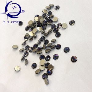 High shining 16 cuts facets Crystal clear non hot fix Rhinestones wholesale