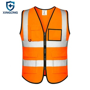 Hot sale custom logo available construction reflective safety vest for night working
