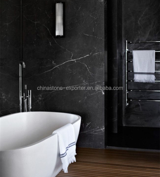 Bathroom Decorated Black Marble Wall Tiles Nero Marquina Good Price