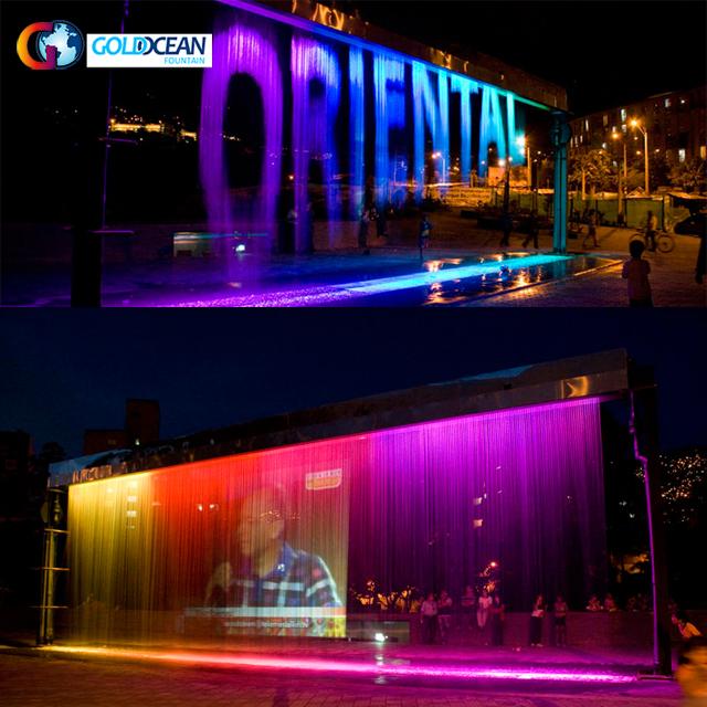 Gorgeous Multicolored Media Indoor Digital Water Curtain