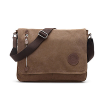Wholesale trendy mens matte canvas shoulder messenger bag