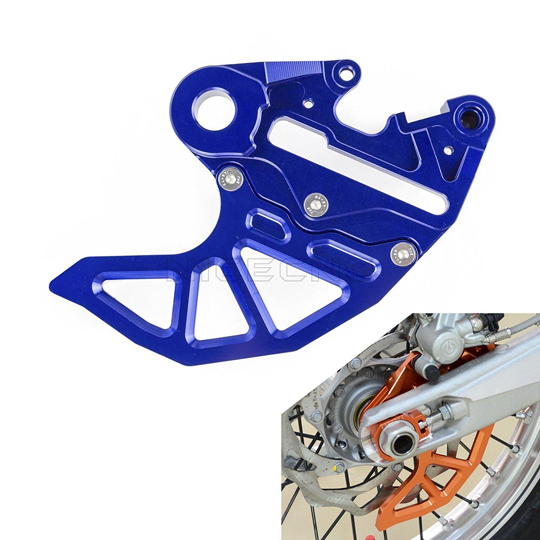 H2RACING Blue CNC Rear Brake Caliper Support Disc Guard with Brake Disc Guard for KTM/Husaberg/Husqvarna,Replacement OEM # 78113975044,U6907872£¬81313975044