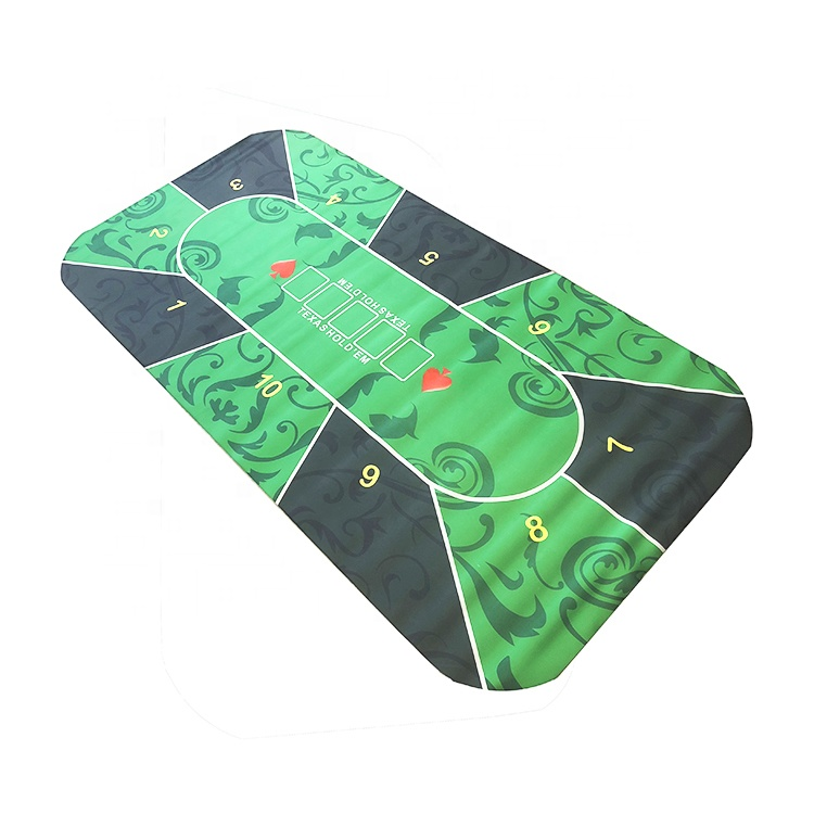 Poker table top mesa de transferência de calor impresso mat, mat anti slip