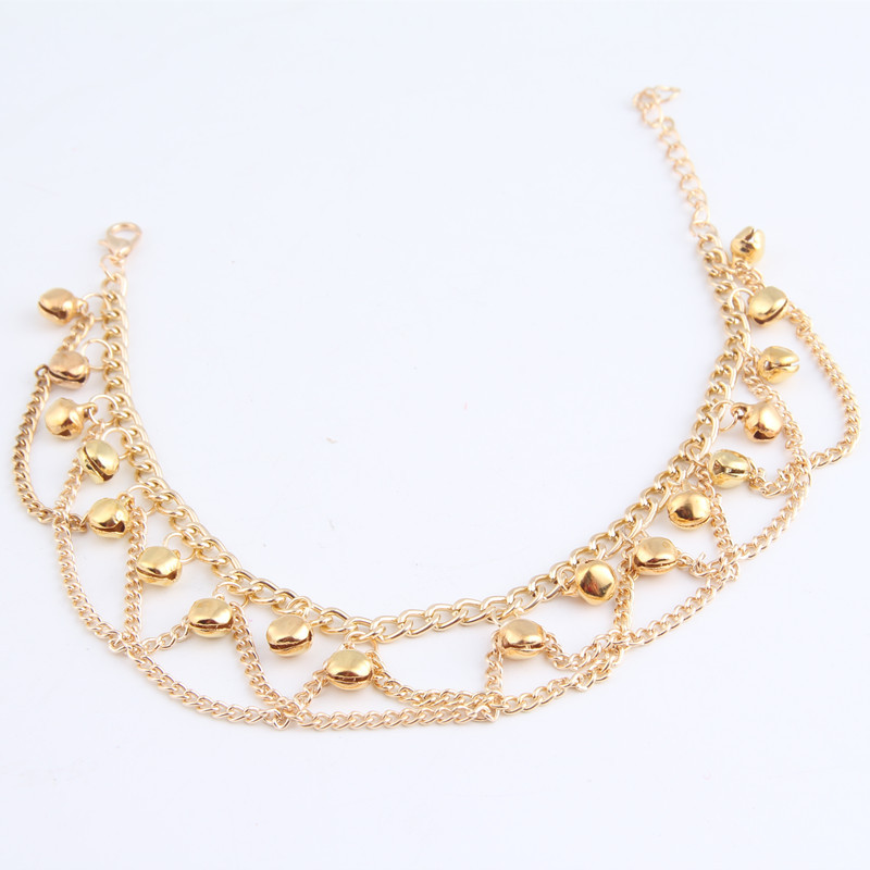 Fashion 24k gold plated hotwife anklets for women indian gold anklets