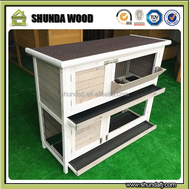 SDR020 Two story wooden rabbit hutch rabbit cage guinea pig cage