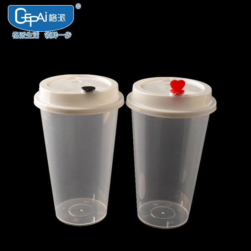 500 ml wegwerp plastic bubble tea cups