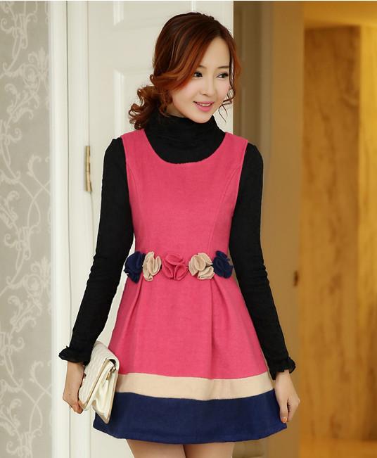 168eb01453712 أحدث صيحات الموضة تصميم فستان الكورية 2014 النساء السيدات-ملابس أم ...
